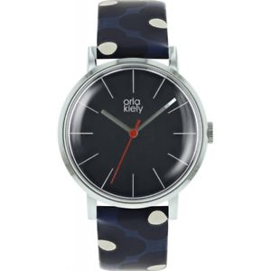 【送料無料】orla kiely ladies patricia leather strap watch  ok2199
