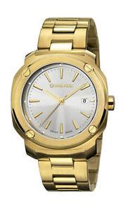 【送料無料】wenger mens edge index 100m gold tone stainless steel watch 011141116