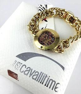 【送料無料】orologio just cavalli tigri cinesi watch lady bracciale laminato oro nuovo