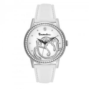 【送料無料】orologio donna braccialini brd 809sbb pelle bianco swarovski