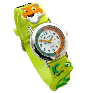 【送料無料】ravel kids time teacher watch jungle animals silicone strap 151378