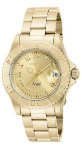 【送料無料】invicta womens angel analog quartz gold plated stainless steel watch 16849