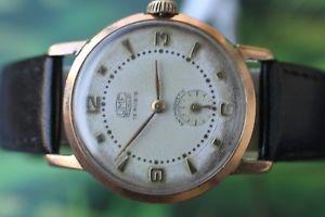 【送料無料】great german goldplated umf ruhla watch 15 jewels