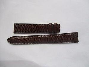 【送料無料】bracelet pour montre t14 en lzard marron de marque camille fournet cousu main