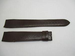 【送料無料】bracelet pour montre a anses fixes t20 en cuir de buffle marron camille fournet