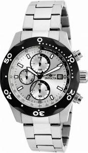 【送料無料】invicta specialty 17749 mens round silver tone analog chronograph date watch