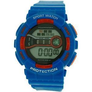 【送料無料】reflex boys girls digital chronograph blue amp; orange plastic strap ref0095