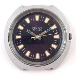 【送料無料】soviet poljot windup watch export edition serviced vgc 1970s *us seller* 1230
