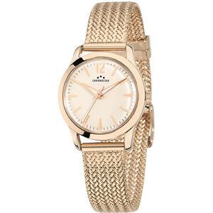 【送料無料】orologio chronostar charles donna r3753256502 watch pvd oro rosa ros maglia