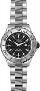 【送料無料】invicta pro diver 15171 mens round carbon analog date stainless steel watch