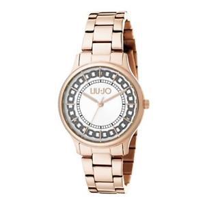【送料無料】orologio solo tempo donna liujo tlj1130 cassa e cinturino acciaio pvd oro rosa