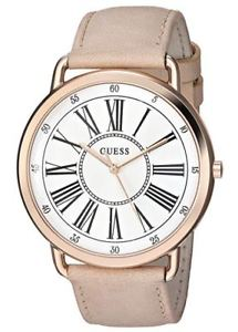 【送料無料】guess womens classic pink leather strap watch u1068l5 in box