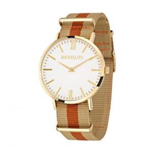 【送料無料】orologio uomo morellato vela r0151134002 tessuto beige bianco gold dorato
