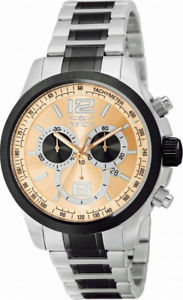 【送料無料】invicta specialty 0079 mens round chronograph date rose gold tone analog watch