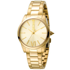 【送料無料】just cavalli uhr damen gold