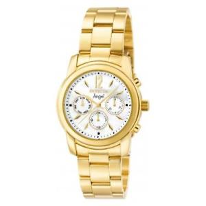 【送料無料】invicta womens angel quartz chrono 50m stainless steel gold tone watch 0465