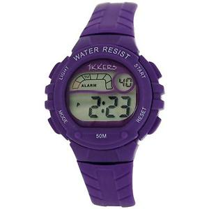 【送料無料】reflex tikkers childrens digital alarm stop watch purple rubber strap rtk0004