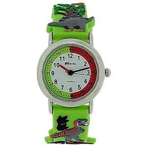 【送料無料】ravel funtime boys 3d jungle design time teacher strap watch r151359