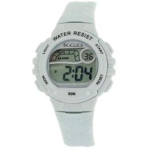 【送料無料】reflex tikkers childrens digital alarm stop watch white rubber strap rtk0001