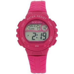 【送料無料】reflex tikkers childrens digital alarm stop watch pink rubber strap rtk0003