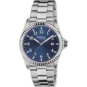 【送料無料】orologio breil tribe classic elegance uomo ew0235 acciaio watch blu nuovo