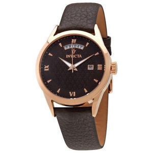【送料無料】invicta 25713 vintage womens 40mm analog display date brown leather watch