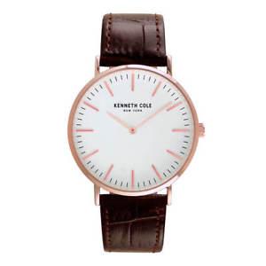 【送料無料】kenneth cole kc50507002 mens classic leather strap watch
