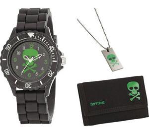 【送料無料】tikkers childrens skeleton watch set in wallet atb003tnp
