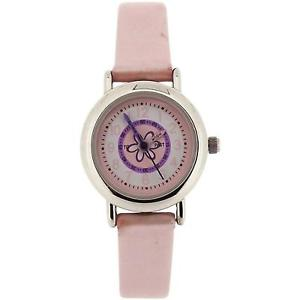 【送料無料】carvel flower time teacher pink metallic girls strap fashion watch c96024fx