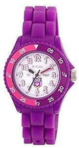 【送料無料】tikkers childrens purple owl resin strap watch ntk0003tnp