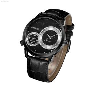 【送料無料】7517 fashion men male watch wristwatches quartz dual mandrel pu strap waterproof