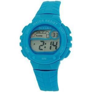【送料無料】reflex tikkers childrens digital alarm stop watch blue rubber strap rtk0002