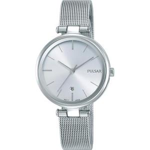 【送料無料】pulsar womens 29mm steel bracelet amp; case quartz analog watch ph7461x1