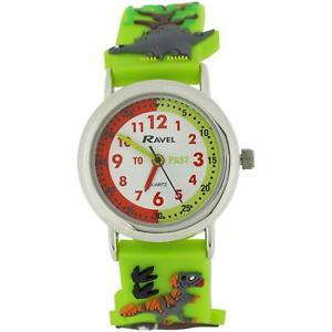 【送料無料】ravel time teacher boys 3d jungle design strap watch telling time award