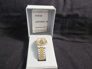 【送料無料】j c penney award of excellence employee vtg watch w case made hong kong