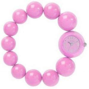 【送料無料】reflex ladies pink analogue large bead fashion wrist watch bbr002