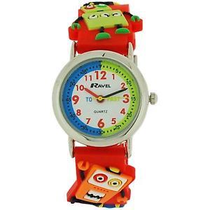 【送料無料】ravel time teacher 3d robots design strap watch telling time award r151361