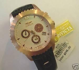 【送料無料】mens invicta chronograph rose gold 316l