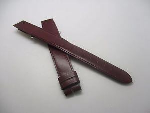 【送料無料】bracelet pour montre a anses fixes t16 cuir bordeau cfournet