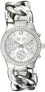【送料無料】soamp;co york womens 5013a1 soho quartz multifunction stainless steel watch