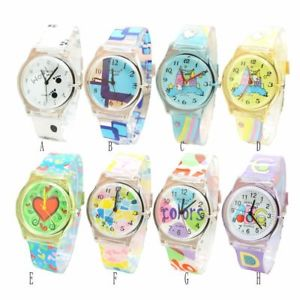 【送料無料】cartoon children watch kids waterproof silicone rubber strap quartz wristwatch