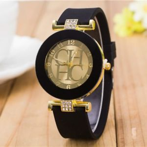 【送料無料】reloj mujer fashion geneva casual quartz watch women crystal silicone watch