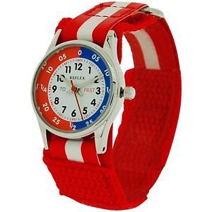 【送料無料】reflex time teacher red amp; white easy fasten watch refk0002 telling time award