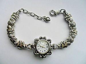 handmade charm bracelet quartz watch with owl  charms 195cm