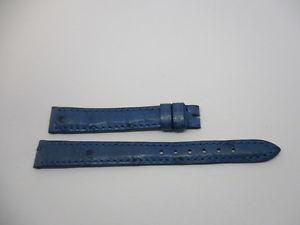 【送料無料】bracelet en autruche couleur bleu marque col taille 12