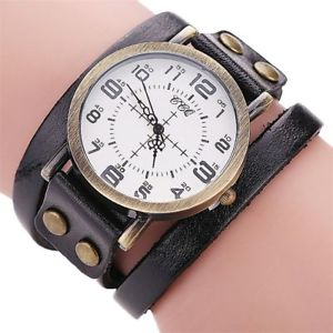 【送料無料】vintage watch fashion cow leather bracelet men women casual wristwatch quartz