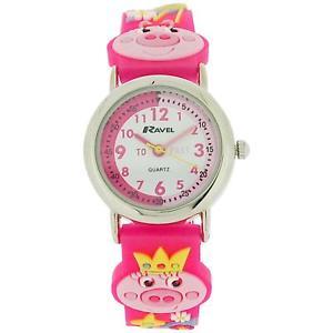 【送料無料】ravel time teacher 3d little miss piggy watch telling time award r151363