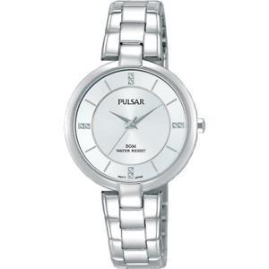 【送料無料】pulsar womens 30mm steel bracelet amp; case quartz analog watch ph8311x1