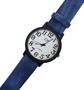 【送料無料】ds orologio polso uomo donna analogico quarzo fashion moda effetto jeans blu lac