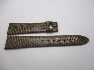 【送料無料】bracelet pour montre en lzard marron grge t 20